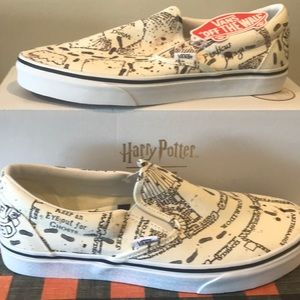 Harry Potter Clsc Slip-On Marauders Map